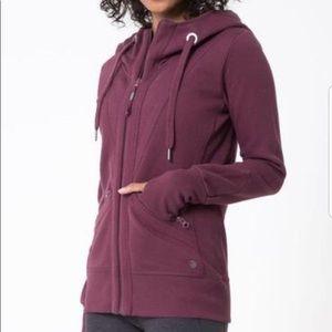 MPG Valencia 3.0 burgundy hoodie zip up sweatshirt